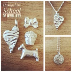 Beginners Silver Clay made at Hampshire School of Jewellery