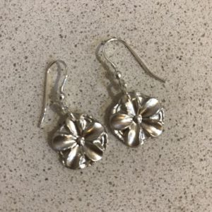 Silver Clay Earrings Made at a Jewellery making party in Hampshire