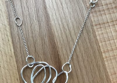 Silver link necklace made on Beginners Silver Jewellery Making