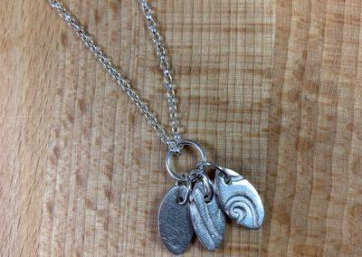 Silver art clay pendant