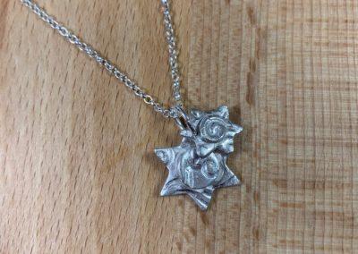 Silver clay star pendant