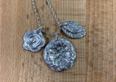 Silver clay charm pendant