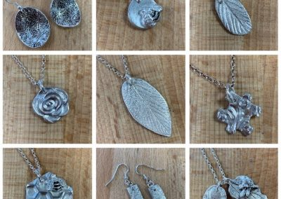 Silver clay selection of student work