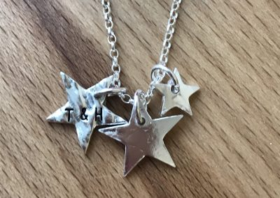Silver art clay star pendant