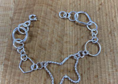 Silver charm bracaelet