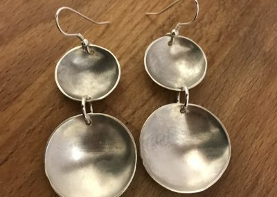 Silver domes earrings