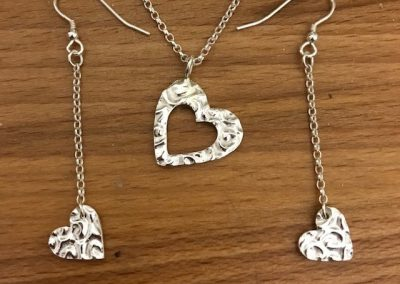 Silver art clay pendant and pendants