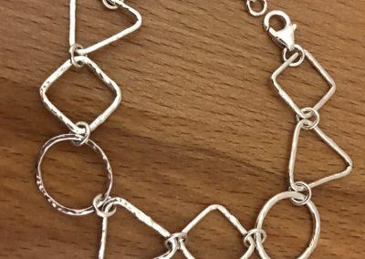 Silver link braclet