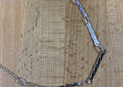 Silver link necklace