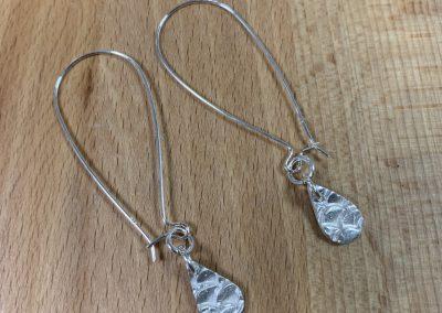 Silver art clay earrings