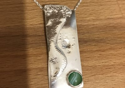 Silver and gemstone pendant