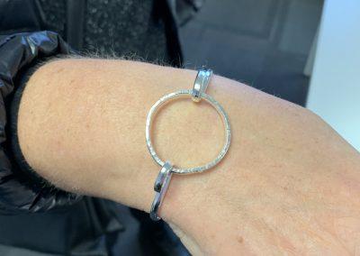 Silver circle bangle