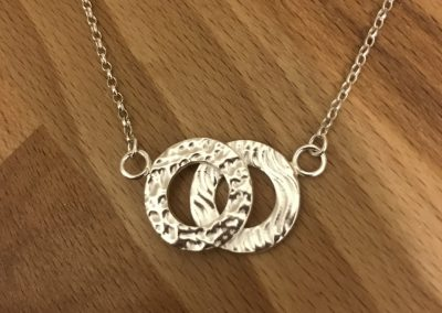 Silver art clay link pendant