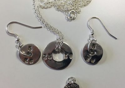 Silver clay weight lifting charms