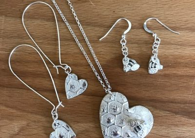 Silver art clat jewellery