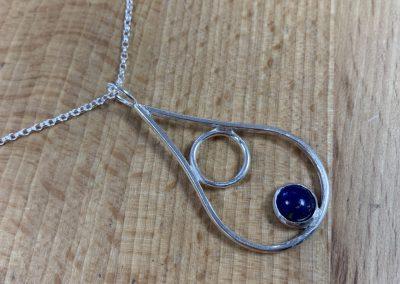Silver drop pendant