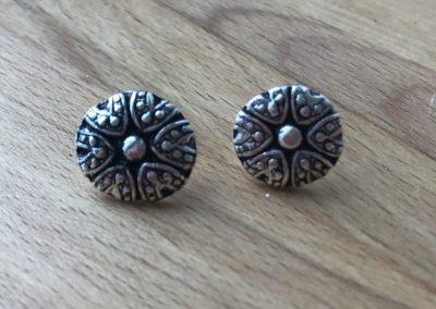 Silver art clay stud earrings