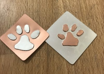 Paw print pendants