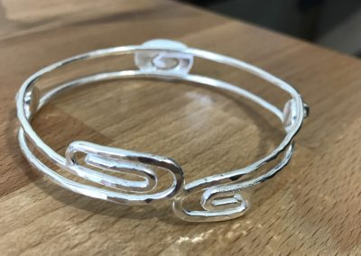 Silver swirl bangle
