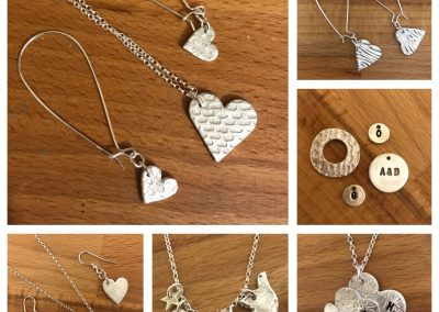 Silver clay jewellery selection