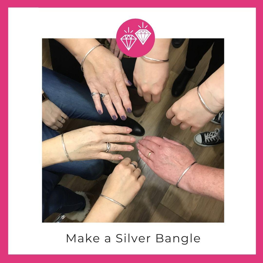 Making a silver bangle
