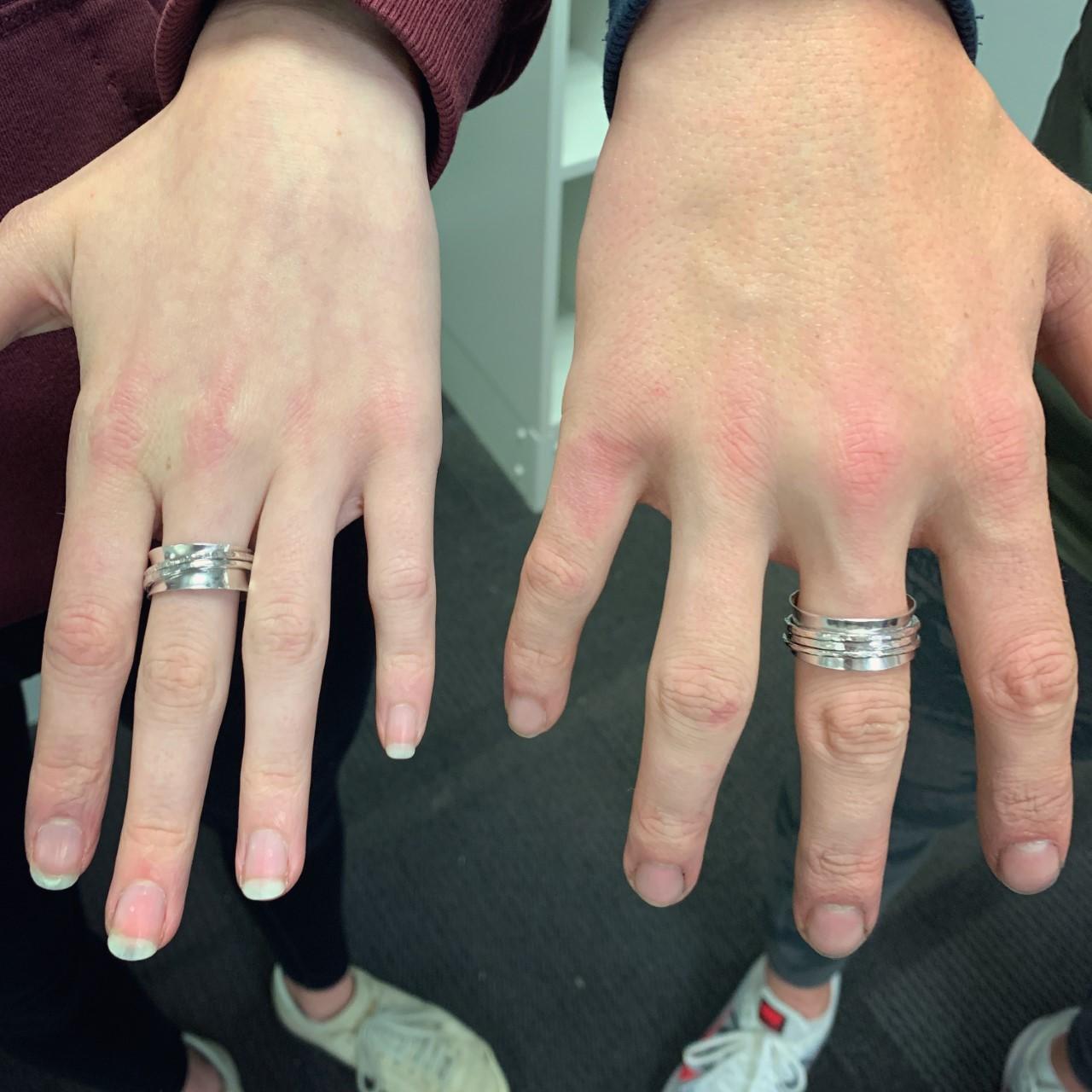 Silver spinning ring making