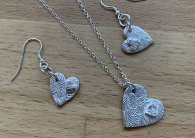 Silver clay jewellery making in Hampshire